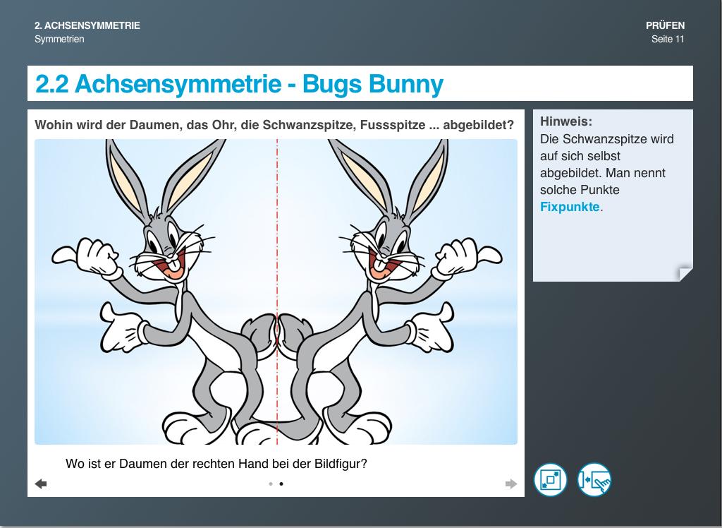 Achsensymmetrie - Bugs Bunnys