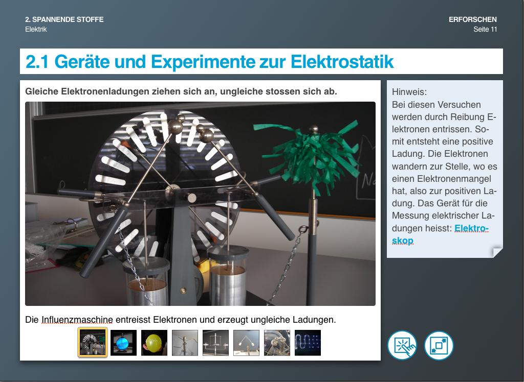 Geräte und Experimente zur Elektrostatik