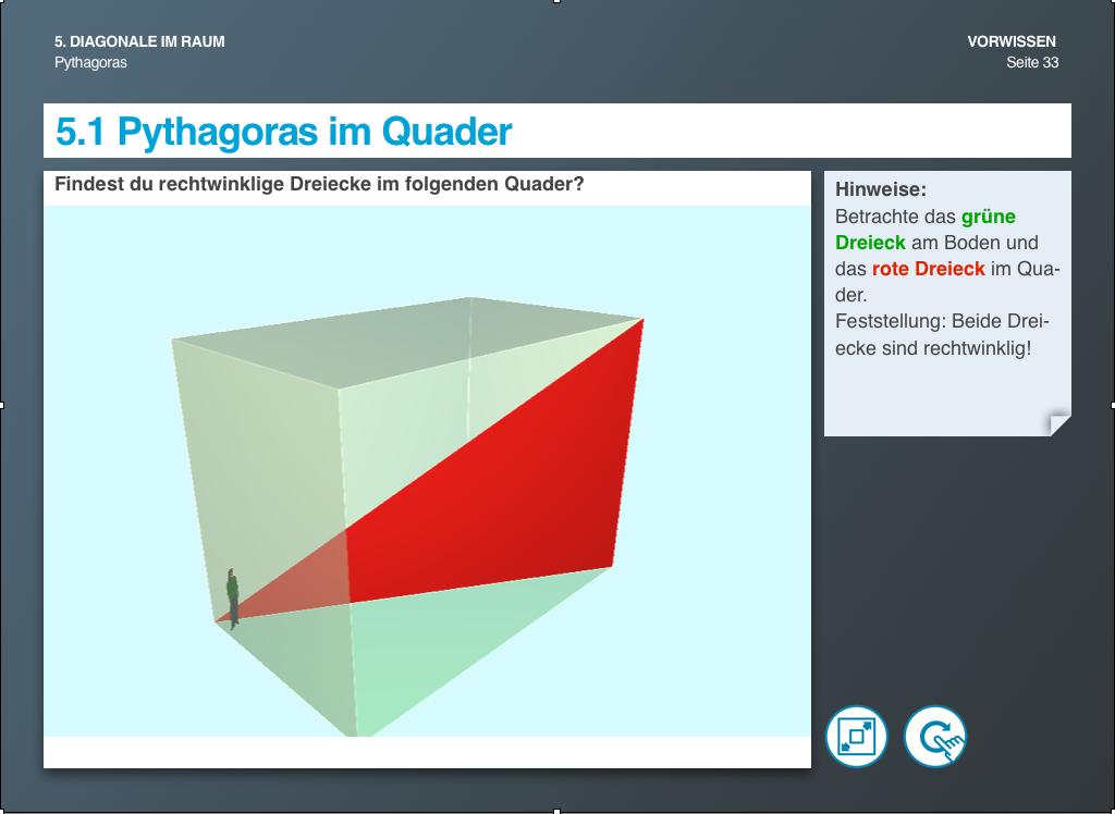 Pythagoras im Quader