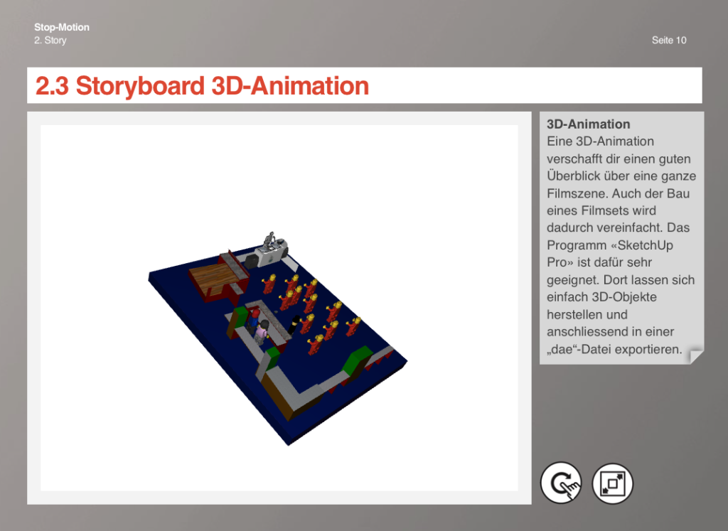 Stop-Motion eBook: Storyboard 3D-Animation