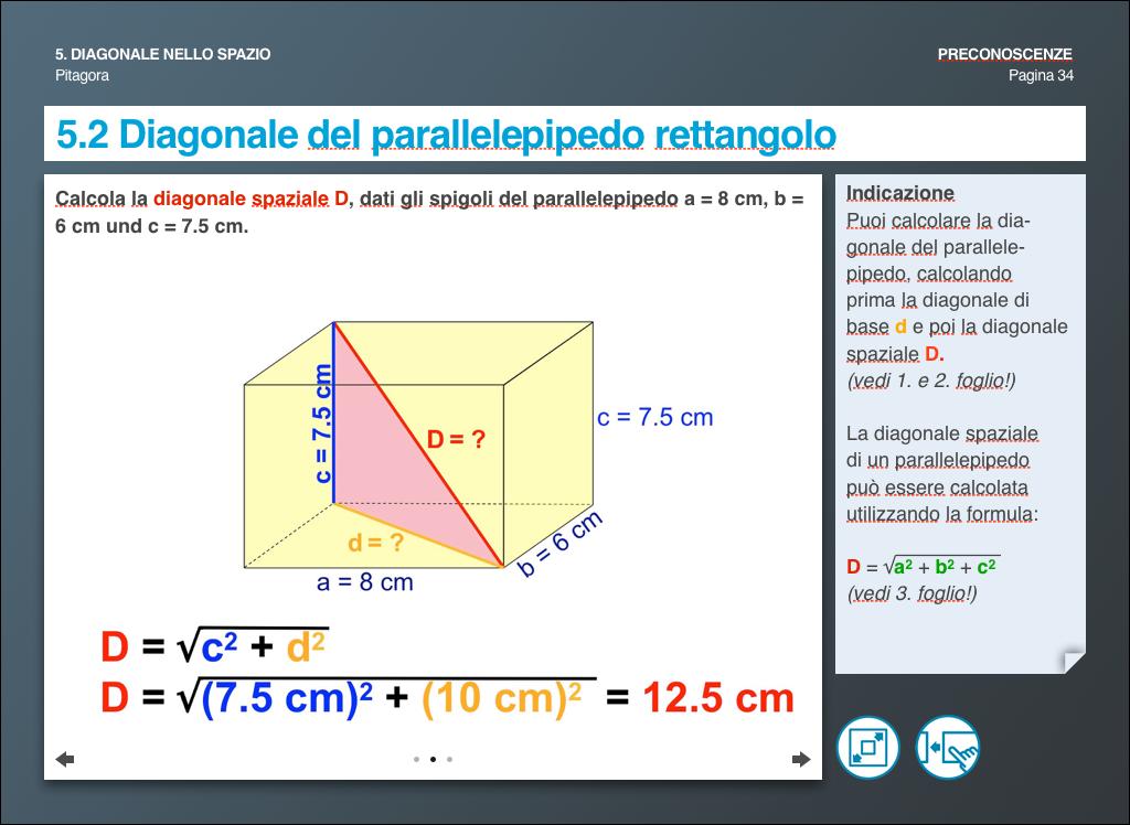 Diagonale del parallelepipedo rettangolo