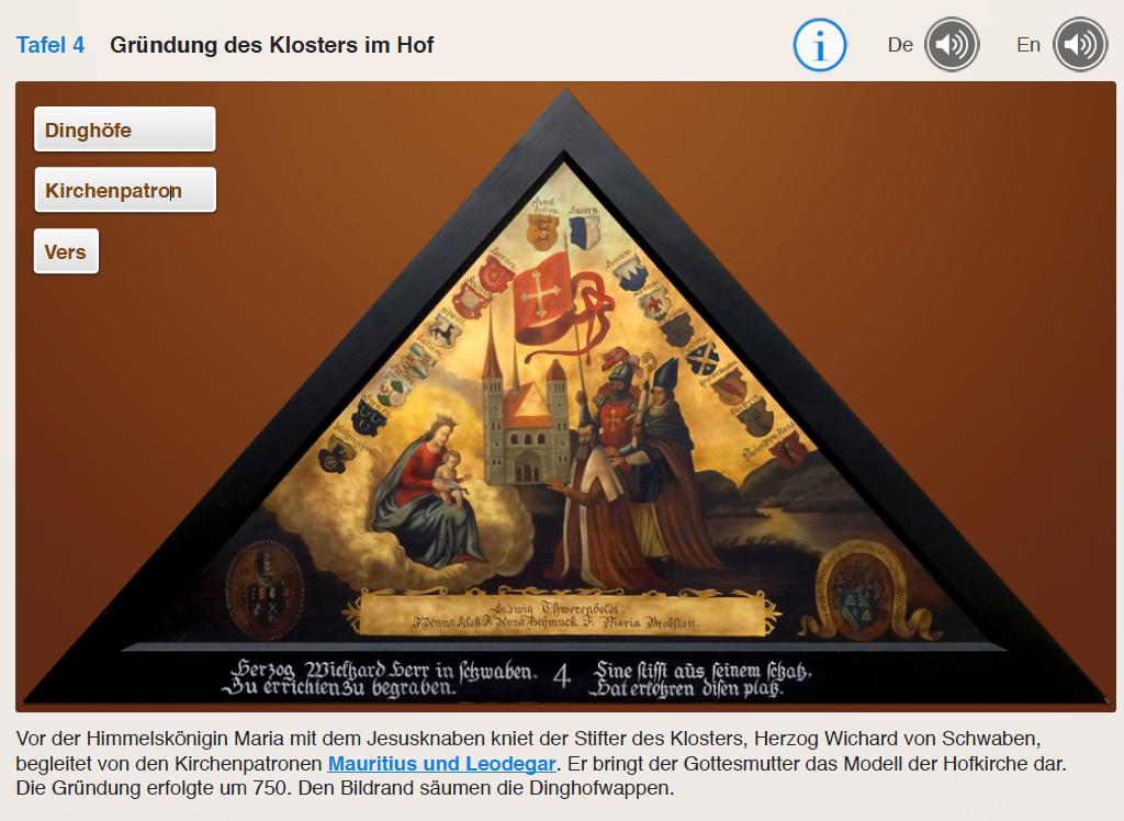 Giebelbilder Kapellbrücke Luzern Gründung der Hofkirche
