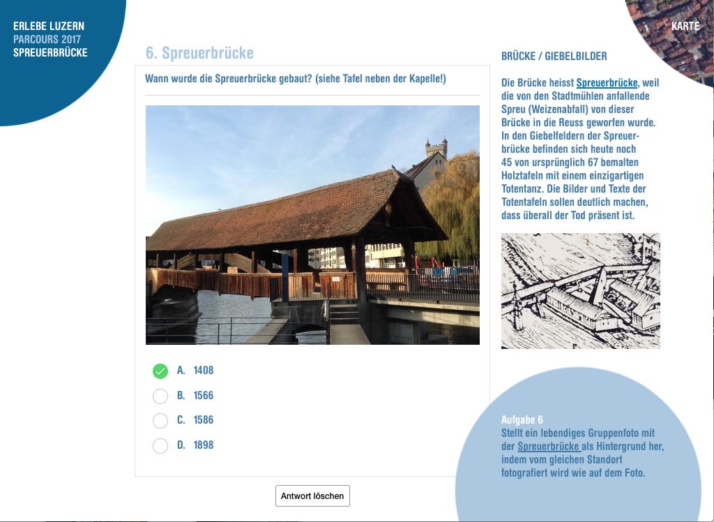 Erlebe Luzern Parcours Spreuerbrücke