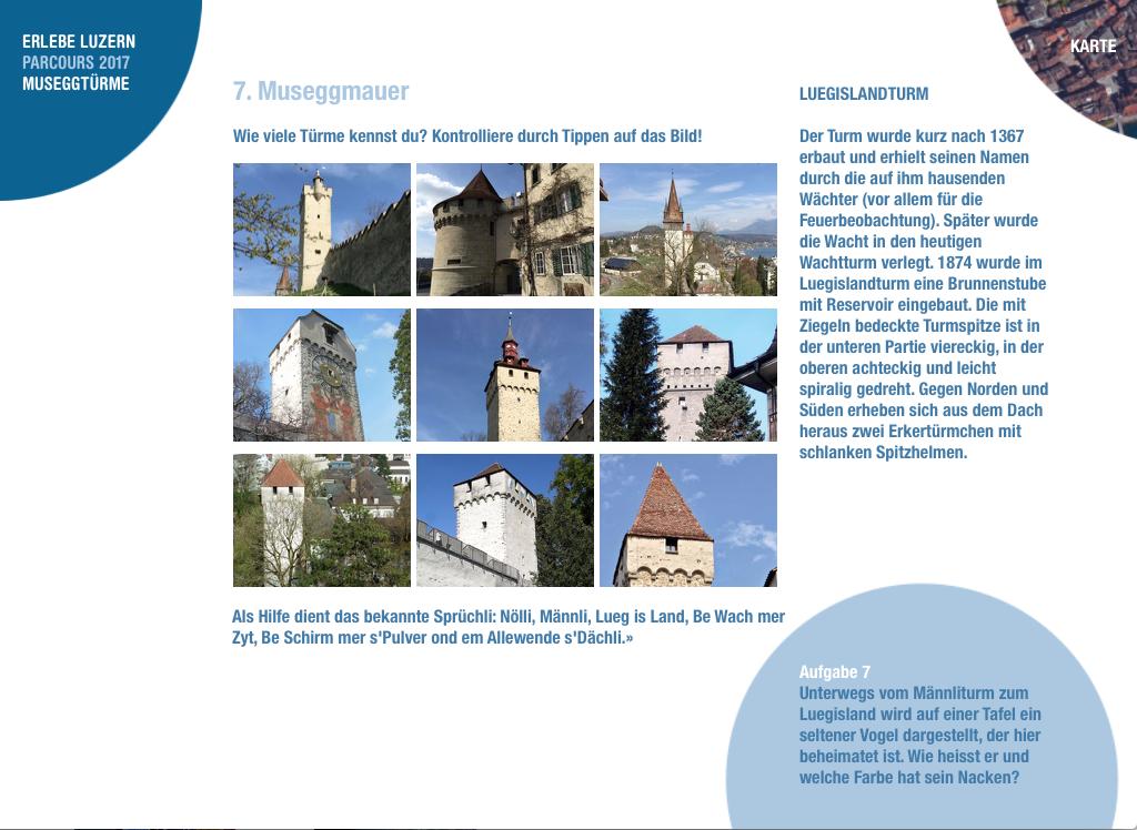 Erlebe Luzern Parcours Museggtürme